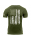 Футболка Rothco Distressed US Flag Athletic Fit T-Shirt Olive